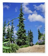 Mountain Trail - Olympic National Park Fleece Blanket