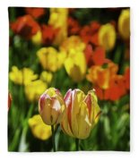 Mountain Tulips Fleece Blanket