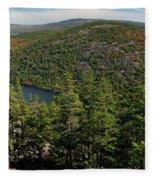 Mountain View, Acadia National Park Fleece Blanket