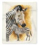 Mountain Zebra Fleece Blanket