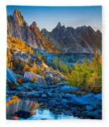 Mountainous Paradise Fleece Blanket