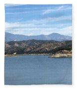 Mountainous View Fleece Blanket