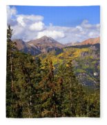 Mountains Aglow Fleece Blanket