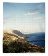 Mountains And Sea Fleece Blanket