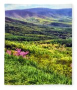 Mountains And Valleys Fleece Blanket