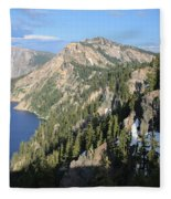 Mountains Around Crater Lake Fleece Blanket