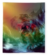 Mountains Crumble To The Sea Fleece Blanket