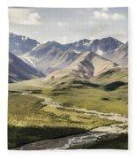 Mountains In Denali National Park Fleece Blanket