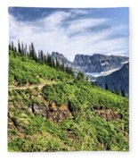 Mountains In Glacier National Park 1 Fleece Blanket