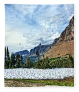 Mountains In Glacier National Park 2 Fleece Blanket