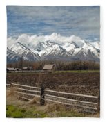 Mountains In Logan Utah Fleece Blanket
