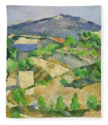 Mountains In Provence Fleece Blanket