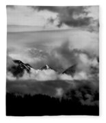 Mountains In The Clouds Fleece Blanket