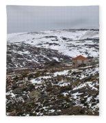 Mountains Of Serra Da Estrela Fleece Blanket