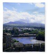 Mountains Of Wales Fleece Blanket