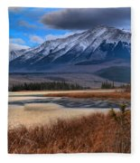 Mountains Over Talbot Fleece Blanket