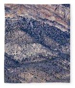 Mountainside Abstract - Red Rock Canyon Fleece Blanket