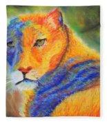 Mountian Lion 1 Fleece Blanket