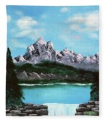 Mountian Waterfall Fleece Blanket