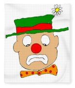 Mournful Clown Fleece Blanket