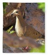 Mourning Dove On The Hillside Fleece Blanket