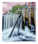 Mousam River Waterfall In Kennebunk Maine Fleece Blanket