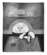 Mouse Hole Fleece Blanket