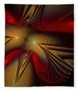 Movement Of Red And Gold Fleece Blanket