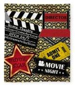 Movie Night-jp3613 Fleece Blanket