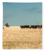 Moving The Herd Fleece Blanket