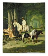 Mr And Mrs A Mosselman And Their Two Daughters Fleece Blanket