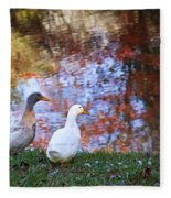 Mr And Mrs Duck Fleece Blanket
