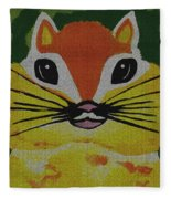Mr Chipmunk Fleece Blanket