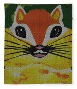 Mr Chipmunk Fleece Blanket