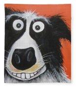 Mr Dog Fleece Blanket