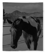 Mr Ed In Black And White Fleece Blanket
