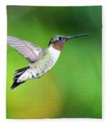 Mr. Humming Bird Fleece Blanket