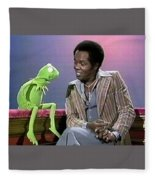 Mr Lou Rawls - Kermit The Frog Fleece Blanket