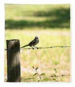 Mr. Mockingbird Fleece Blanket