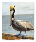 Mr. Pelican Fleece Blanket