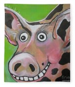 Mr Pig Fleece Blanket