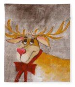 Mr Reindeer Fleece Blanket