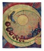 Mr Twardowski On The Moon Fleece Blanket