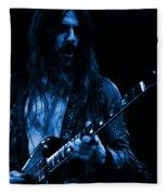 Mrmt #70 Enhanced In Blue Fleece Blanket