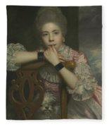 Mrs Abington As Miss Prue In Love For Love By William Congreve Fleece Blanket