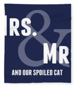 Mrs And Mrs And Cat- Blue Fleece Blanket