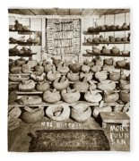 Mrs. Butts Mortar And Pestle Collection Found In San Benito Co. Fleece Blanket