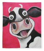 Mrs Cow Fleece Blanket