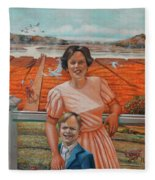 Mrs. Curry And Son Fleece Blanket