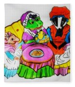 Mrs. Mouse Tea Party Fleece Blanket